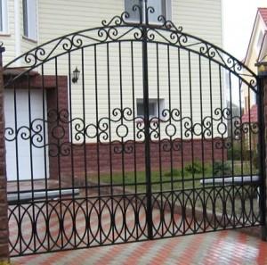 Сварные ворота в белгороде оптимальная ширина ворот