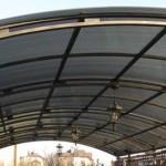 навес гараж металл поликарбонат