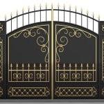 Красивые ворота ковка
